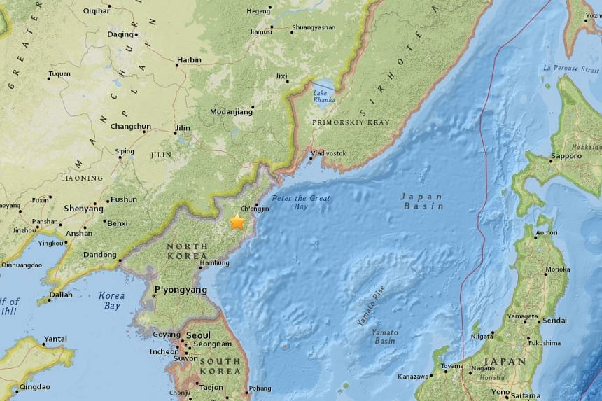A seismic event in North Korea measured by the United States Geological Survey (USGS) with a magnitude of 5.3 appeared to be a nuclear test.