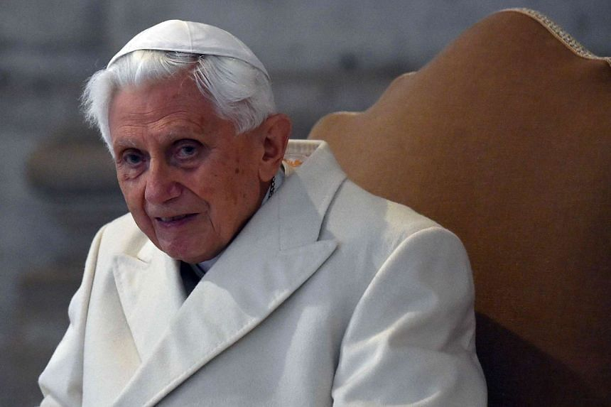 """Former pope Joseph Ratzinger (above, in 2015) says """"of course it wasn't easy"""" to take the decision to become the first pope to retire in seven centuries."""