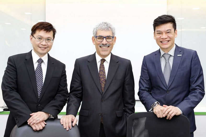 (From left) Trendlines Medical Singapore chief executive Eric Loh, Trendlines chairman and chief executive D. Todd Dollinger and B. Braun Singapore managing director Lam Chee Hong. Trendlines Medical Singapore will incubate early-stage healthcare com
