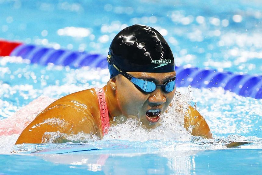 Theresa Goh finished sixth in Heat One of the women's 200m freestyle S5.