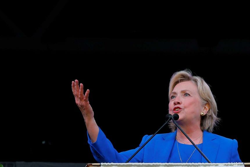 Hillary Clinton speaks to the Annual Session of the National Baptist Convention in Kansas City, Missouri, United States on Sept 8.