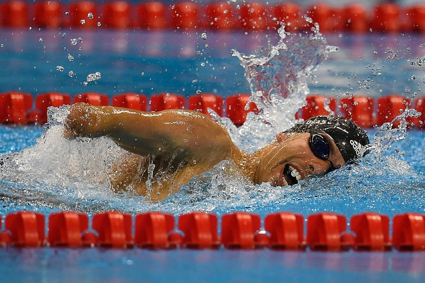"""Brazilian Daniel Dias winning the men's 200m freestyle S5 on Thursday. When asked if he wanted to be the Paralympic counterpart of Michael Phelps, he said: """"I want to build my own legacy. But I'm happy to be compared to a great athlete."""""""