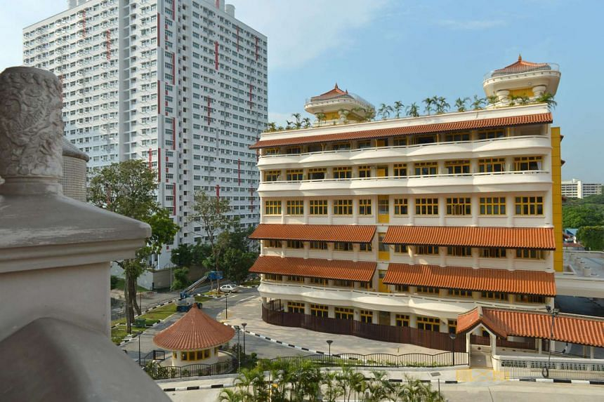 The new Buddhist College of Singapore building is housed within the Kong Meng San Phor Kark See Monastery compound in Bishan.