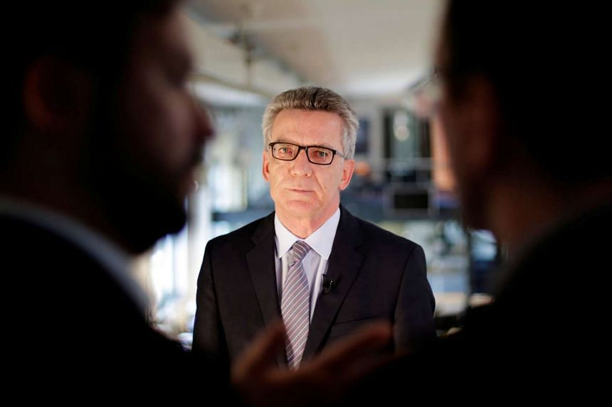 Germany's interior minister Thomas de Maiziere in an interview with Reuters in Berlin, Germany July 5, 2016.