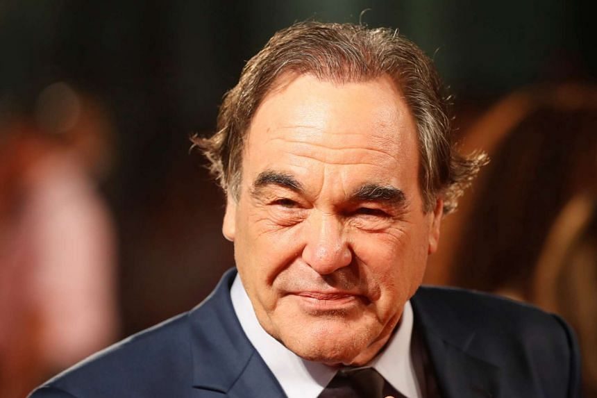Director Oliver Stone arrives on the red carpet for the film Snowden at the Toronto film festival on Septr 9, 2016.