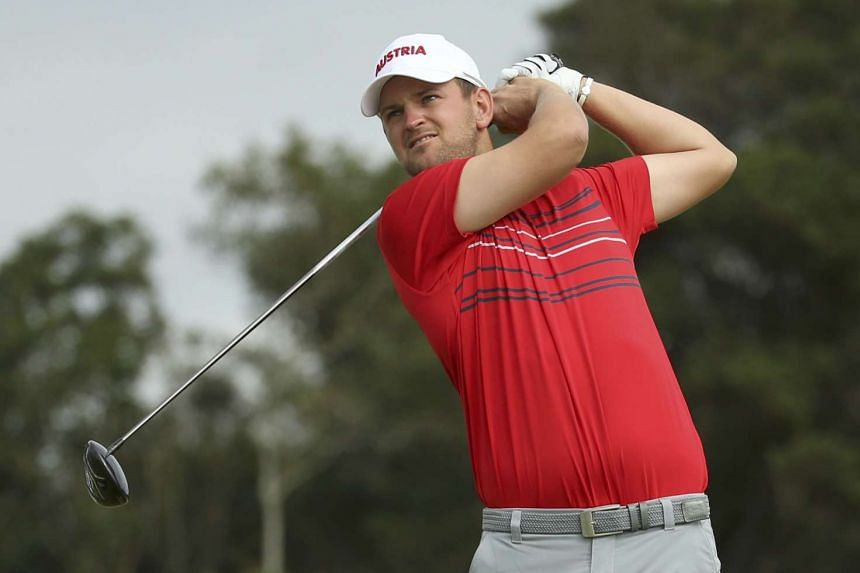 Austria's Bernd Wiesberger (above) has carved out a one-stroke lead at the halfway stage of the Dutch Open.