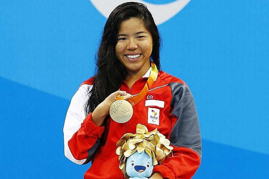 With a Paralympic gold medal and the world-record time under her belt, Yip Pin Xiu was all smiles as she celebrated her 100m backstroke S2 win. She will be aiming for an unprecedented second gold medal at the Games when she competes in the 50m back S