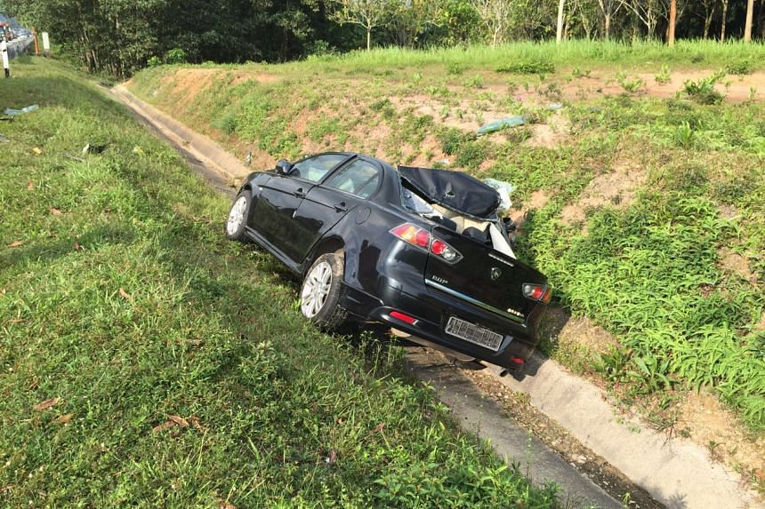 The car crashed into the back of a lorry in the Malaysian state of Johor on Saturday (Sept 10).