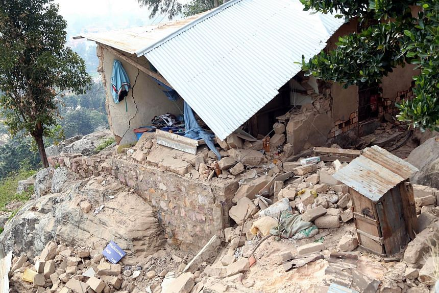 Damaged houses are seen on Sept 10, 2016 after a 5.7-magnitude earthquake struck Tanzania.