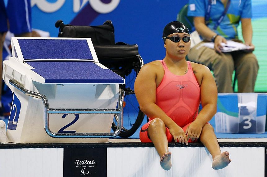 Singapore swimmer Theresa Goh set a new personal best of 1min 54.50sec to finish second in the Heat 2 of the women's 100m breaststroke SB4.