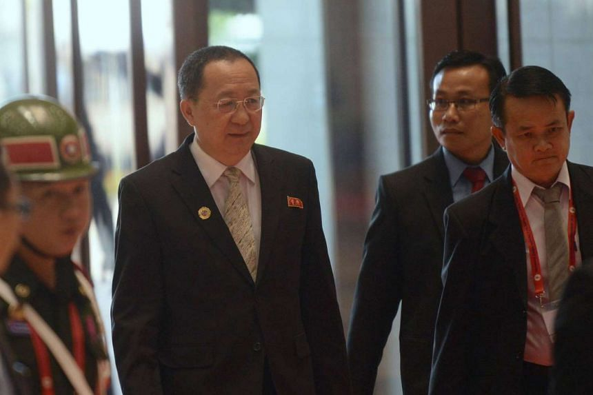 North Korea's Foreign Minister Ri Yong Ho in Vientiane on July 25. He has visited Beijing, Japan's Kyodo news agency reported on Monday (Sept 12).
