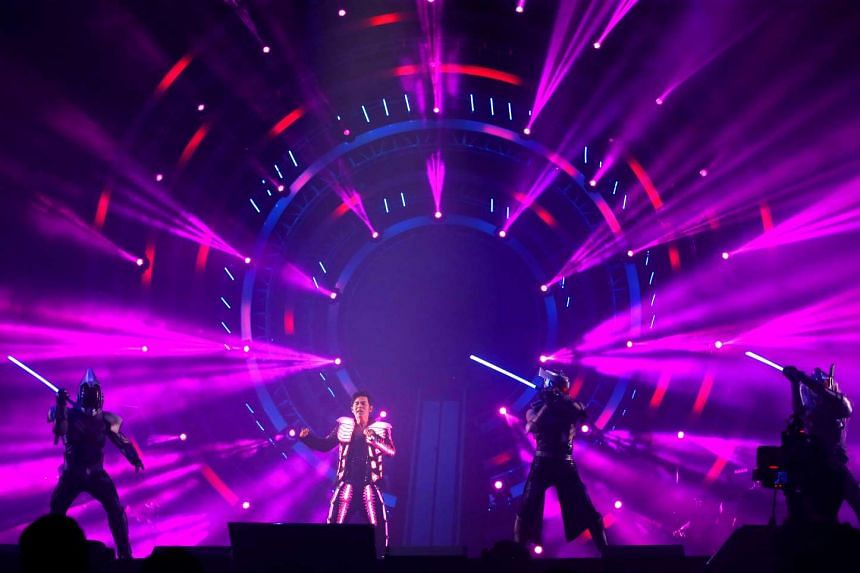 A strict no-food-and-drinks policy was in force at the National Stadium for Jay Chou's concert on Sept 3.