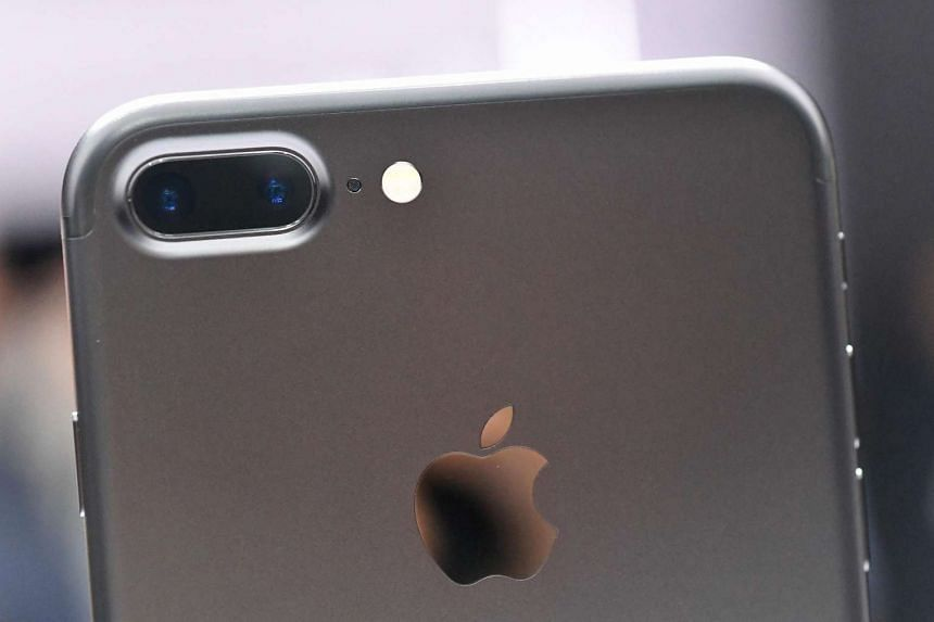 A closeup view of the iPhone 7 Plus' dual cameras.