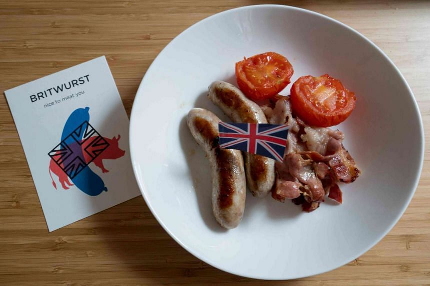 British style sausages named Britwurst homemade by Richard Holmes in his Vienna apartment are pictured on March 16, 2016 in Vienna, Austria.