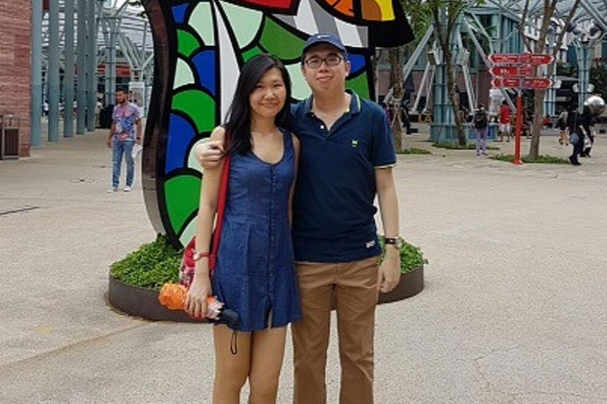 Mr Chee with his girlfriend, Ms Pham Nguyen Tuong Van, 28. Mr Chee writes on education, legal and social issues, having been trained in social sciences and the law.
