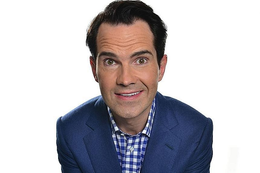 British comedian Jimmy Carr will perform his stand-up show, Funny Business, here tomorrow and on Wednesday.