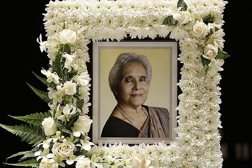 Mrs George, who died last Thursday of heart failure at age 86, had retired in 1990 after serving 23 years as the principal of St Margaret's Secondary School.