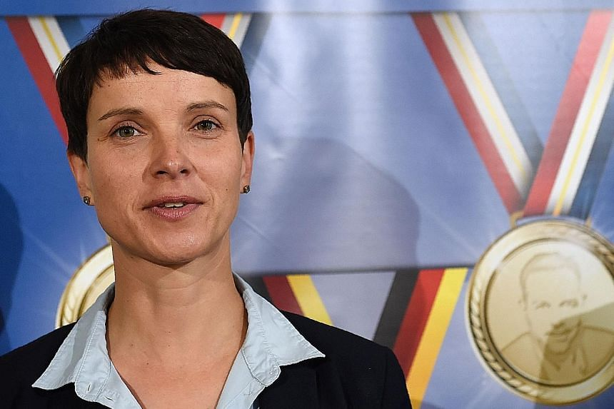 AfD leader Frauke Petry has suggested that German police be allowed to shoot at migrants entering the country, attacked Muslim football star Mesut Ozil and voiced admiration for US presidential hopeful Donald Trump.