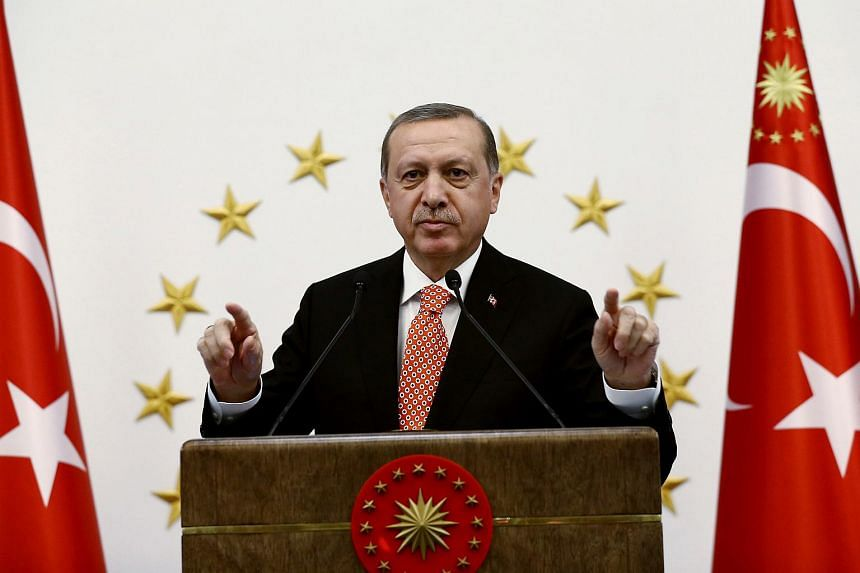 """President Tayyip Erdogan has said that the UN or the Red Crescent """"will send food, toys and clothing to the people, mainly in Aleppo, through the predetermined corridors""""."""