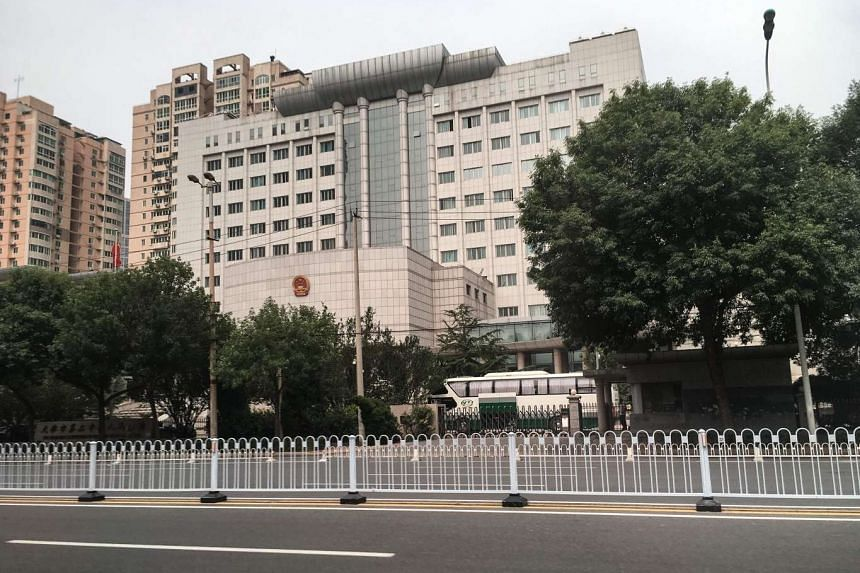 The Number 2 Intermediate People's Court in Tianjin, China. According to state media, China has tightened judicial procedures to stop human rights violations.