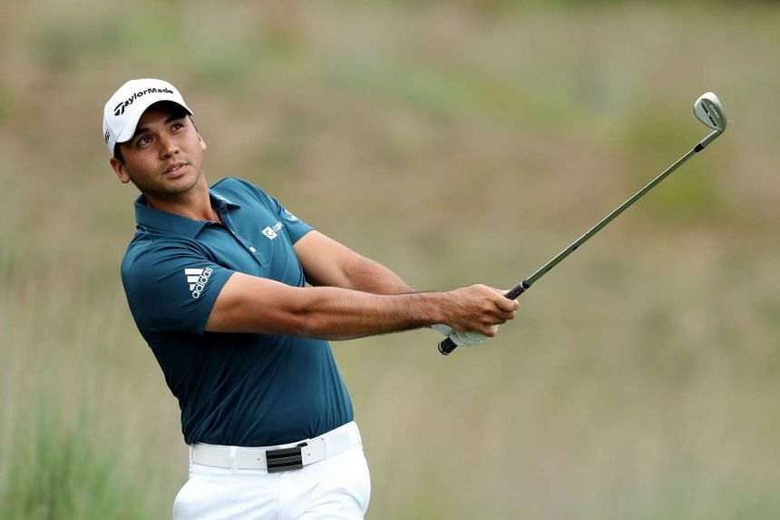 Jason Day plays a shot on the fourth hole at the Deutsche Bank Champiionship Boston on Sept 3.