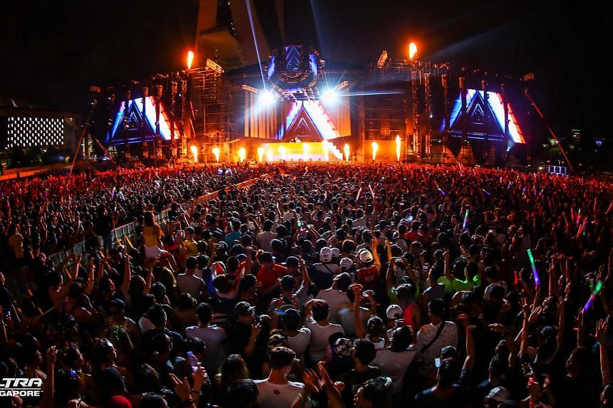 A view of the main stage at the inaugural edition of Ultra Singapore on Day 2 (Sept 11).