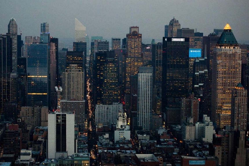 A view of the midtown Manhattan skyline. CEOs of some of the largest US companies have become less optimistic about their business prospects.