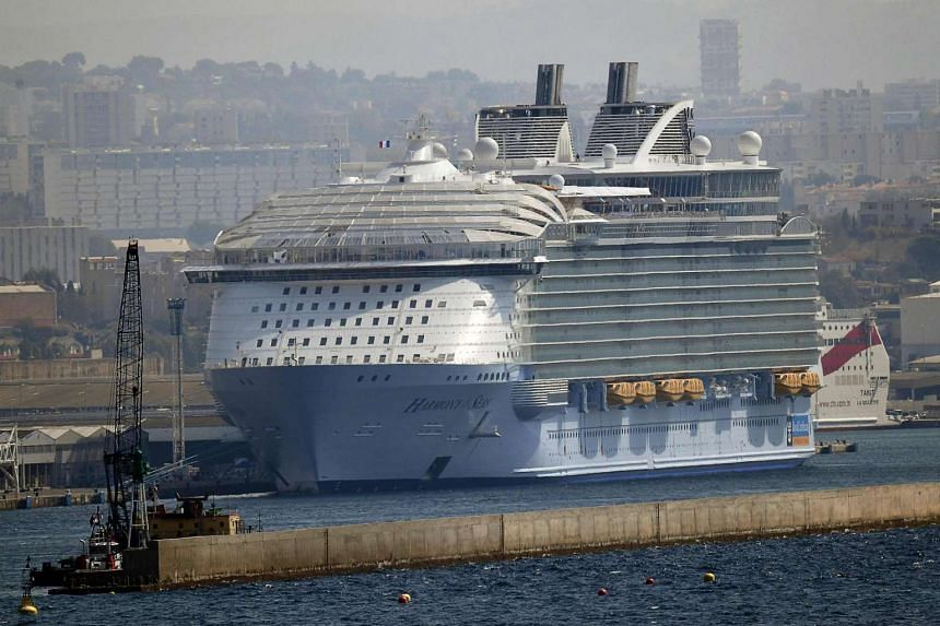 One person was killed and two were seriously injured on Sept 13 when a lifeboat became detached from the Harmony of the Seas, which was docked in the French port of Marseille.