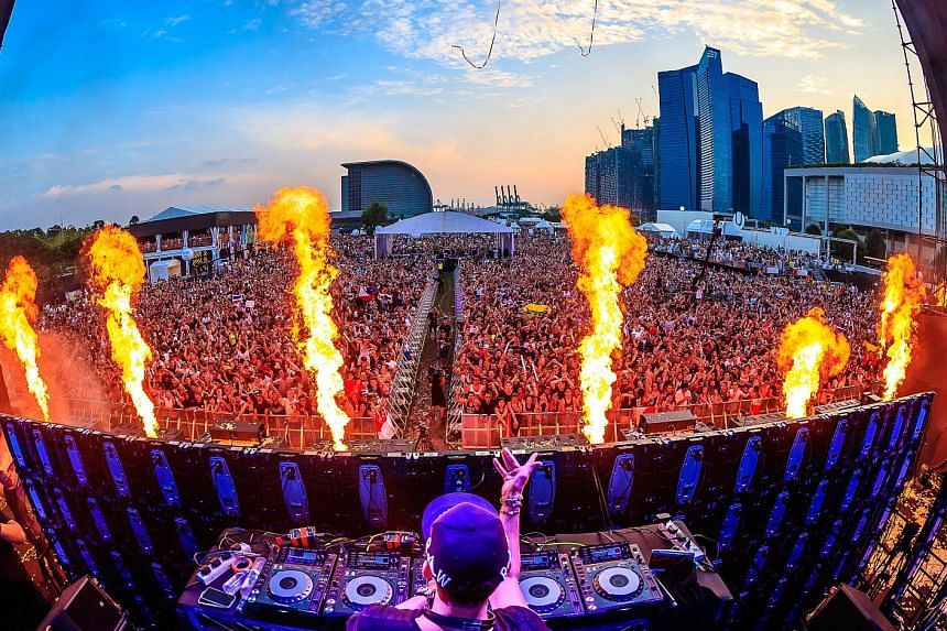 Afrojack performing at the inaugural edition of the electronic dance music festival last Saturday.