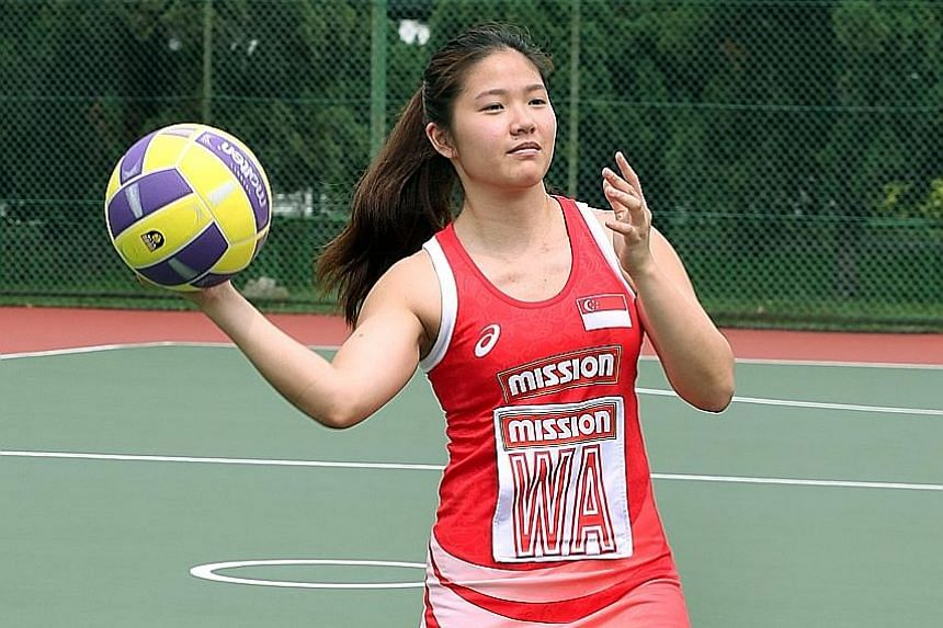 Ms Lim feels restless on days when there is no netball training, though she enjoys the time off.