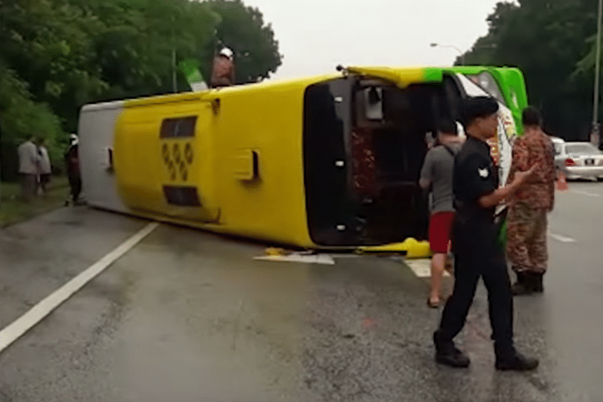 The accident occurred at 9am on Sept 13, when the bus was on its way from Ampang to Puchong.