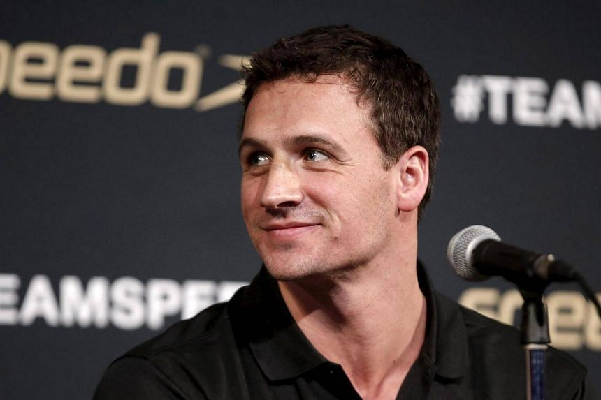 Ryan Lochte at a news conference in New York on Dec 15, 2015.