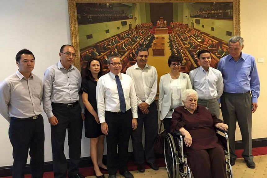 Family members of the late Mr S R Nathan were present as Parliament paid tribute to the former president.