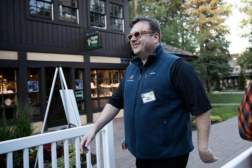 Mr Reid Hoffman, executive chairman of LinkedIn, on July 6, 2016. He pledged on Monday (Sept 12) to donate US$5 million (S$6.8 million) to charity if Donald Trump releases his tax returns.