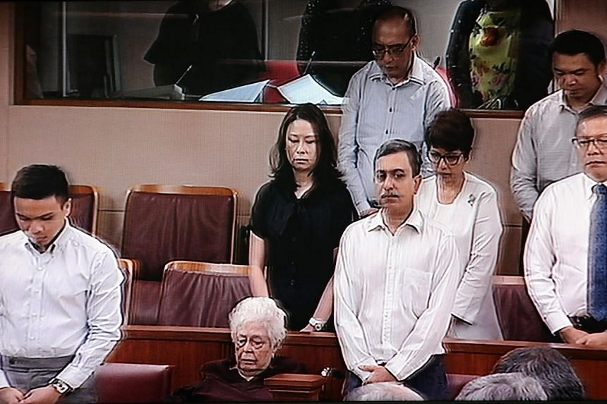 The family of the late president S R Nathan in Parliament.