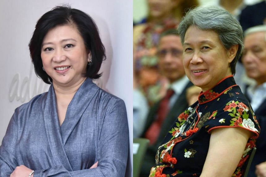 Singapore Telecommunications Group CEO Chua Sock Koong (left) and Temasek Holding's executive director and CEO Ho Ching are ranked 4th and 8th in a list of the world's 50 most powerful businesswomen outside the US.