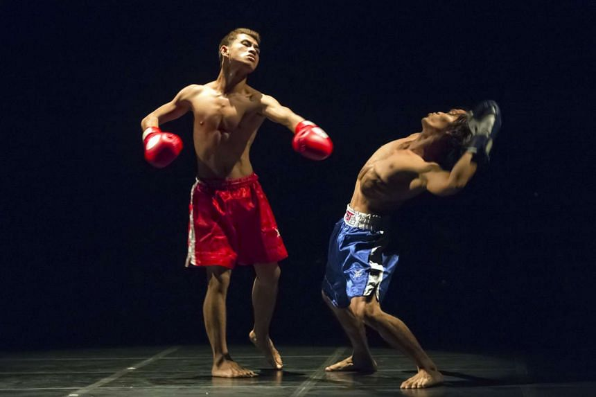 Brodal Serei (Freestyle Boxing) by Emmanuele Phuon is performed by dancers from Amrita Performing Arts in Cambodia.