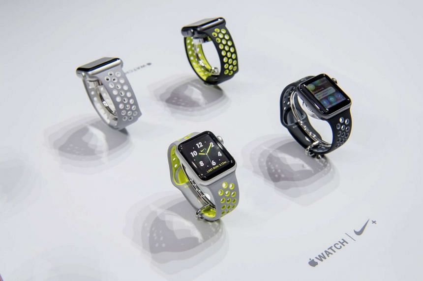 The new Apple Watch 2 is displayed during an event in San Francisco, California on Sept 7, 2016.