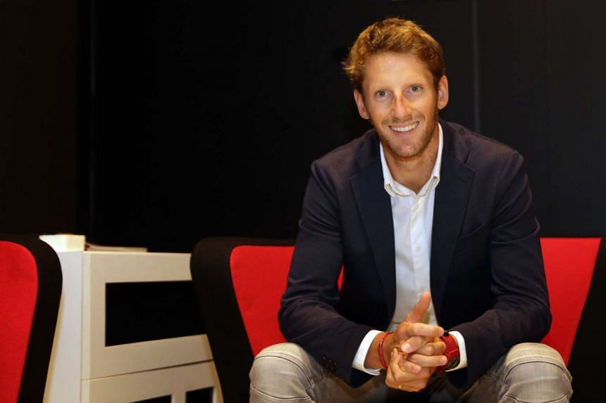 Haas driver Romain Grosjean said he found it a unique experience to be able to score the team's first points.
