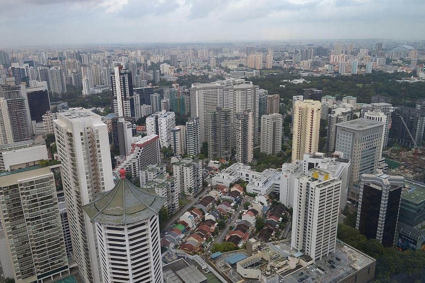 An aerial view of Cairnhill estate and Orchard Road area.