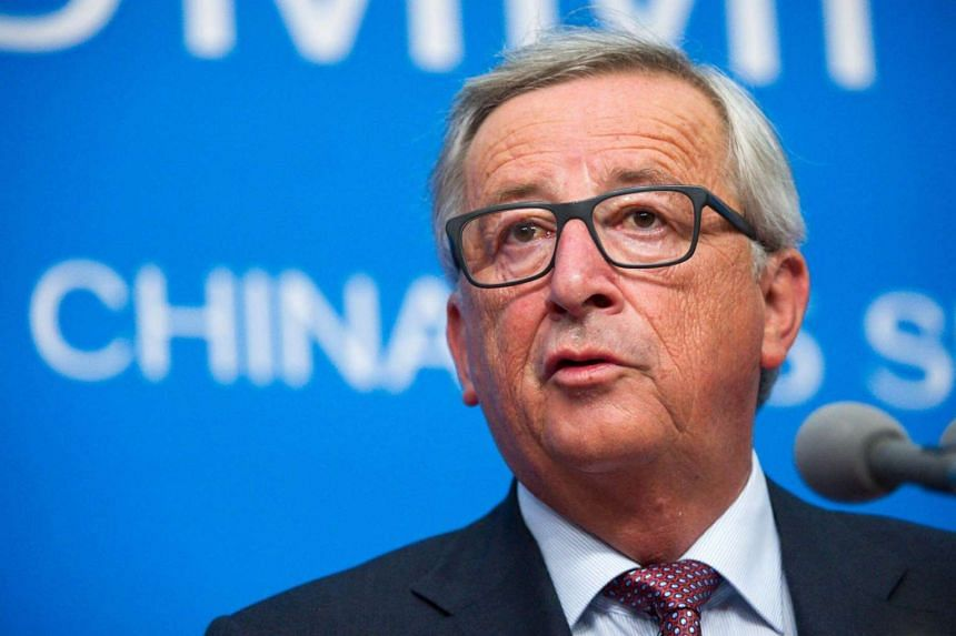 EU Commission President Jean-Claude Juncker give a press conference within the framework of the G20 Summit in Hangzhou, China on Sept 4, 2016.