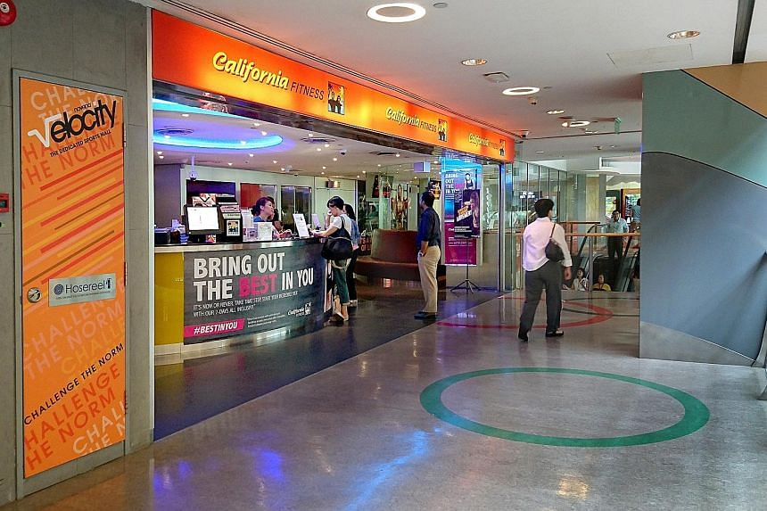 A California Fitness branch at Velocity@Novena Square on July 18 before it ceased operating the following day. After nearly 20 years here, the gym chain closed all its outlets suddenly that month.