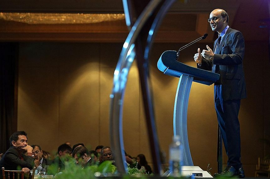 Mr Tharman, speaking at the annual dinner of the Economic Society of Singapore at the Mandarin Orchard Hotel yesterday, said the Government, the Council of Presidential Advisers, the elected president and Parliament each play a crucial role in sustai