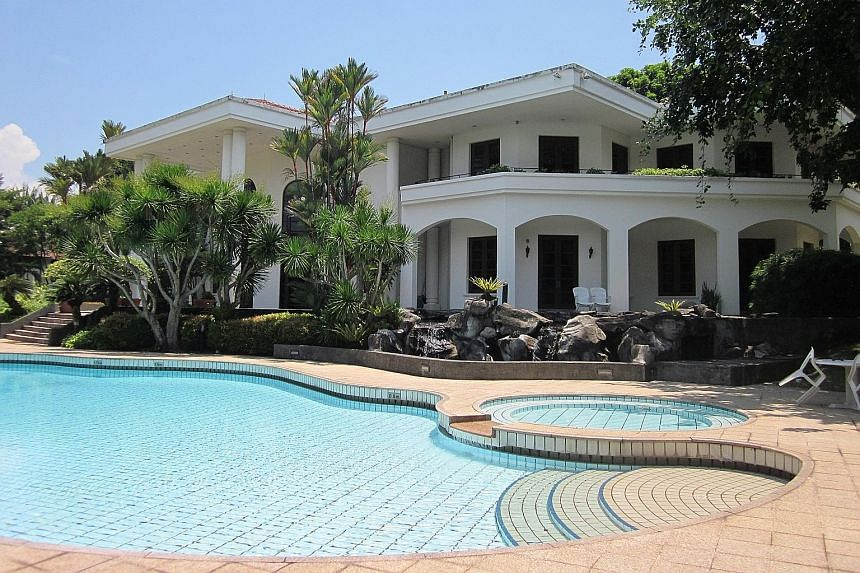 The property at 17, Leedon Park comprises a two-storey bungalow with a built-up area of about 9,000 sq ft as well as a 21m-long swimming pool and garden. Its redevelopment potential will be a big draw as it can be sub-divided into three good class bu
