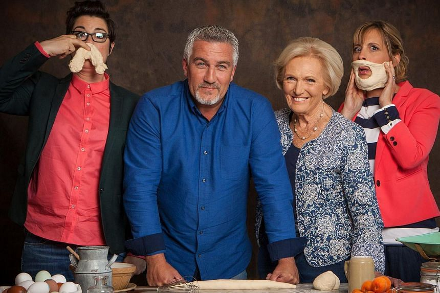Great British Bake Off's judges and hosts (from left) Sue Perkins, Paul Hollywood, Mary Berry and Mel Giedroyc.