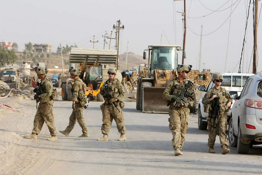 US soldiers in the town of Gwer, northern Iraq, on Aug 31, 2016.