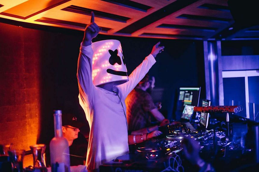 DJ Marshmello playing at the official Ultra Singapore after party on Sept 11, 2016.