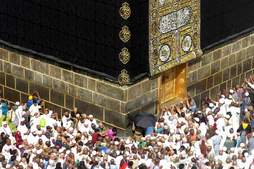 Muslim pilgrims from around the world circle the Kaaba at the Grand Mosque, in Mecca, Saudi Arabia, on Sept 14, 2016.