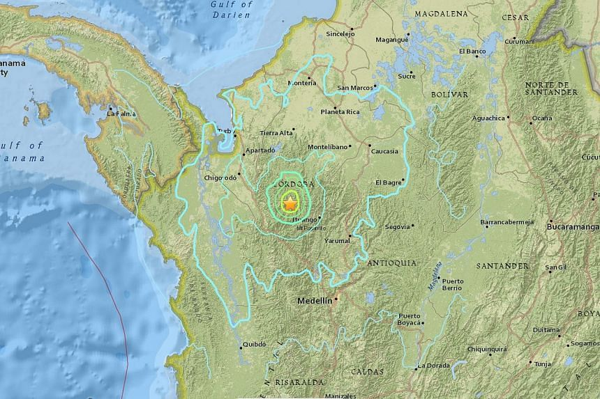 An earthquake measuring 6.0 magnitude struck off northwest Colombia on Tuesday (Sept 13).