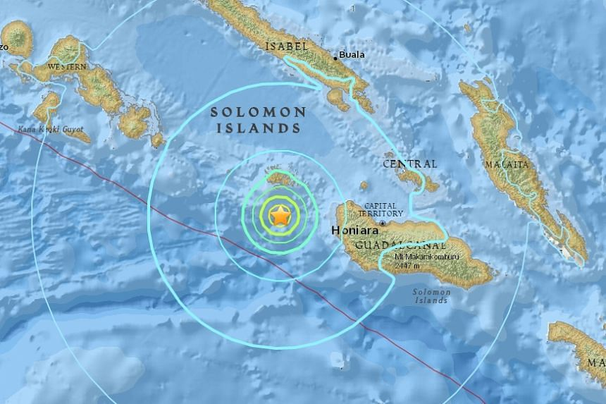 A magnitude-6 earthquake struck 89km west of the Solomon Islands on Wednesday (Sept 14), USGS reported.